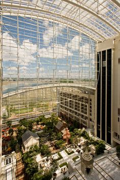 Gaylord National  Even if you're not planning to stay the night, consider making a quick stop at the Gaylord National hotel to tour the impressive atrium (which is home to actual buildings, shops, and mini parks). The mammoth hotel and convention center also offers an impressive rooftop lounge, Pose, with a wraparound terrace that boasts insane views of the cityscape.