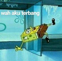 Memes Indonesia Gambar 21 New Ideas All Meme, New Memes, Dankest Memes, Cartoon Jokes, Spongebob Memes, Cartoon Ideas, Spongebob Squarepants, Memes Funny Faces, Cute Memes