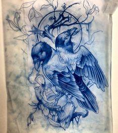 Эскиз двуглавого ворона