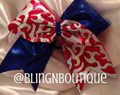 Welcome Home - Red White and Blue Cheer Bow