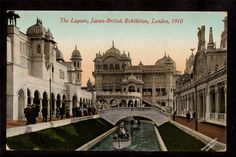 1910 Boats in The Lagoon Japan British Exhibition London UK Exposition Postcard