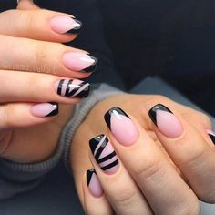 VK is the largest European social network with more than 100 million active users. Nail Color Combos, Nail Colors, French Nails, Black Nails, Pink Nails, Finger, Art Simple, Gel Acrylic Nails, Beautiful Nail Designs