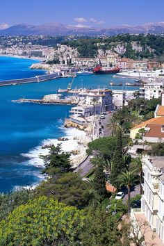 French Riviera, Nice, France. Note: This city had an amazing fireworks display on Bastille Day, and there was a huge dancing celebration in one of the town squares.