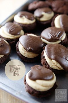 Gluten-Free Brownie-Buckeye-Bites & GIVEAWAY - Tried and Tasty