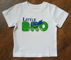 little brother ninja turtle themed shirt on Etsy, $22.00