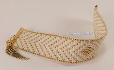 Bracelet woven on a loom Bracelet toho Gold bracelet