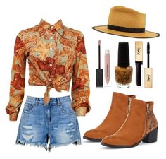 Outfit #1789 by ivanna1920 on Polyvore featuring polyvore moda style Gladys Tamez Millinery Burberry Yves Saint Laurent OPI fashion clothing