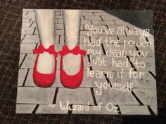 Wizard of Oz quote canvas