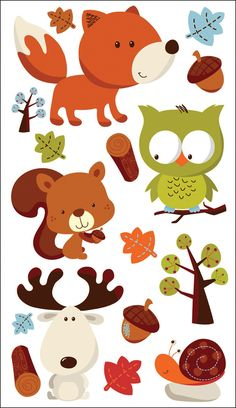 Sticko 58 Stickers - Forest Friends