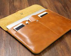 "Light Brown handmade leather macbook sleeve case for new macbook 12 "" / macbook air 11 "" 13 "" / macbook pro retina cover bag MACX03C-B"