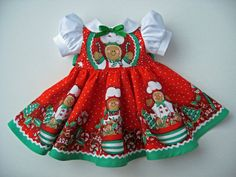American Girl Doll Clothes LAST ONE Gingerbread Christmas Dress