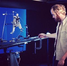 Star Wars 1977-1983 @StarWars7783 Phil Tippett works with a TaunTaun. #empirestrikesback @PhilTippett