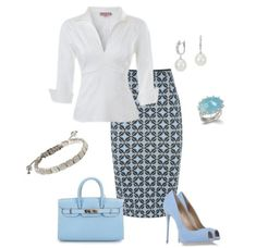 A fashion look from May 2014 featuring zipper top, blue pencil skirt and blue platform pumps. Browse and shop related looks.A fashion look from May 2014 featuring zipper top, blue pencil skirt and blue platform pumps. Browse and shop related looks. Business Fashion, Office Fashion, Work Fashion, Fashion Looks, Blue Fashion, Business Outfits, Business Attire, Fashion Goth, Fashion Rings
