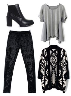 Great Outfit Idea in Black, White, and Grey
