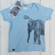100 Organic Cotton Baby Tshirt printed by hand in by LionOfLeisure