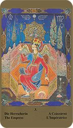 Empress from the Kazanlar Tarot at TarotAdvice Tarot Reading, Tarot Decks, Tarot Cards, Art Gallery, Painting, Image, Tarot Card Decks, Art Museum, Fine Art Gallery