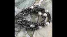 Cubic Right Angle Weave Moonlight Bracelet