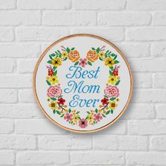 BOGO SALE, Cross stitch pattern Mother's Day, Instant Download, Cross stitch PDF, Needlework, Needlecraft, Best Mom Embroidery, Digital #062 by LolitaMade on Etsy