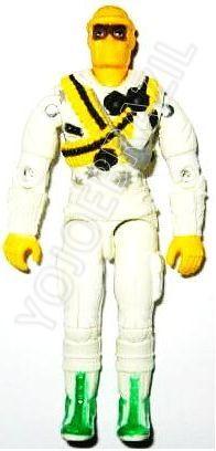 Descrição:  O Piloto do Rothor (Pântano) foi lançado no Brasil em 1995 (Série 12) pela companhia de Brinquedos Estrela, a figura corresponde ao modelo swivel arm (com movimento nos cotovelos). Trata-se da versão nacional do Arctic Assault Trooper [Iceberg] fabricado em 1993 pela Hasbro pela série G.I. JOE.