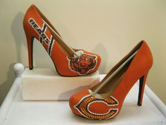 womens chicago bears heels, gonna try and make them myself cant wait!