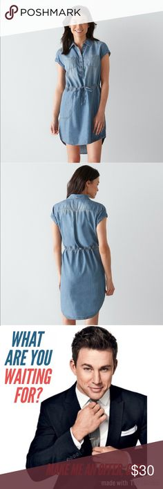 Petite SONOMA Goods for Life™ Chambray Shirtdress Petite SONOMA Goods for Life™ Chambray Shirtdress  Product Details  PRODUCT FEATURES 4-pocket 5-button placket Short sleeves with rolled cuffs Trendy chambray construction Unlined  FIT & SIZING 36-in. approximate length from shoulder to hem Shirtdress styling  FABRIC & CARE Cotton, Tencel® Machine wash Imported SONOMA Goods for Life Dresses
