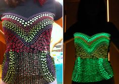 How-To: Glow in The Dark Corset T-Shirt  from @Kathy Cano-Murillo's daughter, Maya of Maya in the Moment