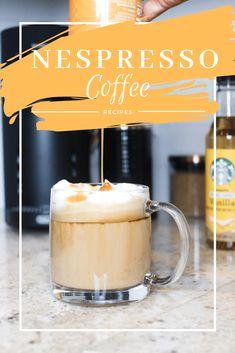 Coffee Recipes with the Nespresso Espresso Machine - Demi Joie Classic Vanilla Latte Cafe Latte Recipe, Cappuccino Recipe, Coffee Drink Recipes, Coffee Drinks, Coffee Coffee, Coffee Time, Easy Coffee, Coffee Truck, Coffee Beans
