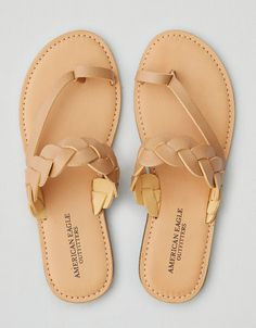 AEO Flat Braid Sandal , Natural from American Eagle Outfitters. Shop more products from American Eagle Outfitters on Wanelo. Toe Loop Sandals, Braided Sandals, Cute Sandals, Cute Shoes, Me Too Shoes, Shoes Sandals, Flat Shoes, Flat Sandals, American Eagle Outfitters Shoes