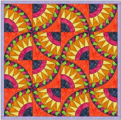 Name: 'Quilting : Overlapping Triangle Beauty 2 Foundation Paper Piecing Patterns, Applique Patterns, Quilt Patterns, Flowering Snowball Quilts, Drunkards Path Quilt, Paper Pin, New York Beauty, Thing 1, Foundation Paper Piecing