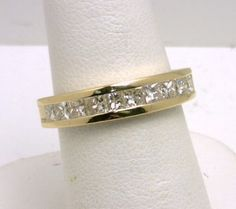 14k diamond channel wedding band benchmarkgembrokers.com