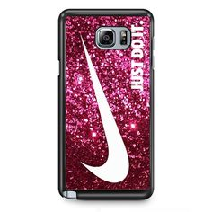 Just Do It Sparkle Glitter Pink TATUM-6021 Samsung Phonecase Cover Samsung Galaxy Note 2 Note 3 Note 4 Note 5 Note Edge
