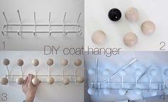 DIY coat rack/Eames knock-off; from timeoftheaquarius.com blog