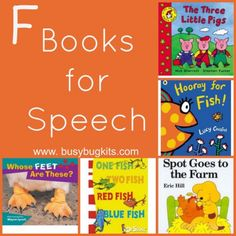 A fantastic list of books for the 'f' sound. Articulation Therapy, Articulation Activities, Speech Therapy Activities, Language Activities, Book Activities, Phonics, Speech Language Therapy, Speech Language Pathology, Speech And Language