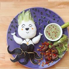 Even someone as evil and Ursula the sea witch manages to look cute with the help of some incredible food art.  Source: Instagram user leesamantha