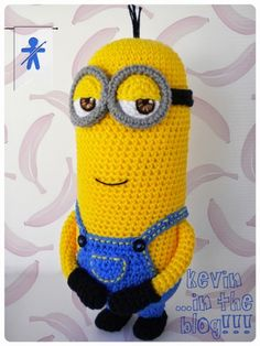 Minion Kevin from Despicable Me Minion - Free Amigurumi Pattern Spanish and English (scroll down) here: http://amigurumisfanclub.blogspot.com.es/search?updated-max=2015-04-28T17:48:00%2B02:00&max-results=1&start=1&by-date=false