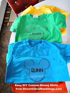 Easy Custom DIY Disney Shirts
