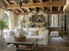 Tuscan Villa - Mediterranean - Porch - st louis - by Amy Studebaker Design