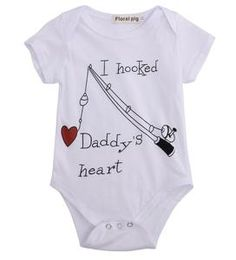 I Hooked Daddy's Heart Romper