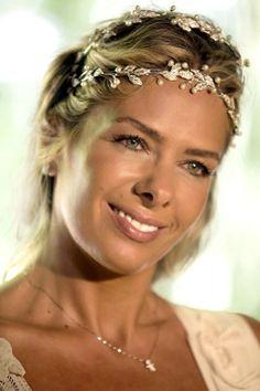 Tiara para Noiva com Pérolas Adriane Galisteu - gti03p