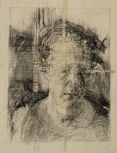 """""""Shannon and Passage,"""" Ann Gale, charcoal, pencil and gouache on buff paper, x Dolby Chadwick Gallery © Ann Gale. Gesture Drawing, Life Drawing, Portraits, Portrait Art, Figure Painting, Figure Drawing, Etching Prints, High Art, Process Art"""