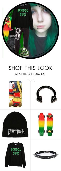 """""""Ur local emo stoner"""" by chemicalfallout249 ❤ liked on Polyvore featuring Hot Topic, Converse and Trend Cool"""