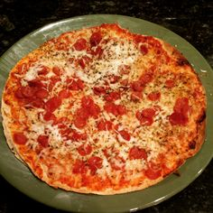 Easy 350 cal pepperoni pizza