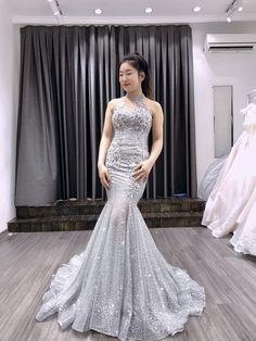 Sparkly Gown Halter Neckline  Wedding Bridal Gown  Evening Dress  Sequins  Glitter Wedding Dress 85d33faf0aac