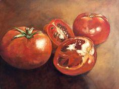Oil on canvas - Susan Slump Oil On Canvas, My Arts, Vegetables, Vegetable Recipes, Veggies