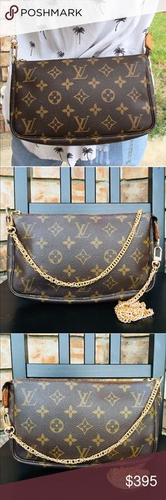 adcbc6ec5b9c Louis Vuitton pouch pochette crossbody Authentic. Date code AR0030. Clean  inside. There are