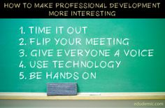 5 Ways To Make Professional Development More Interesting