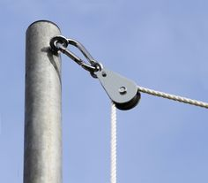 Galvanised Steel Standard Easy Hoist Fixing Set for shade sail--also can use turnbuckle