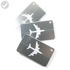 UBIQLINE Stainless Steel Luggage Tags SET OF 3 | Luggage Identifier | Suitcase Tags | Handbag Tags | With Address Card, Plastic Cover and Stainless Steel Cable | Travel Accessories - Dont forget to travel (*Amazon Partner-Link)