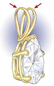 Professional Jeweler Archive: Repairing or Replacing Worn Pendant Bails - Sostituire il gancio di un pendente