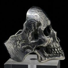 Handcrafted Sterling Silver Mens Skull Ring Masonic-Freemason Biker Jewelry Sz11 #SIGNORINGS #Masonic